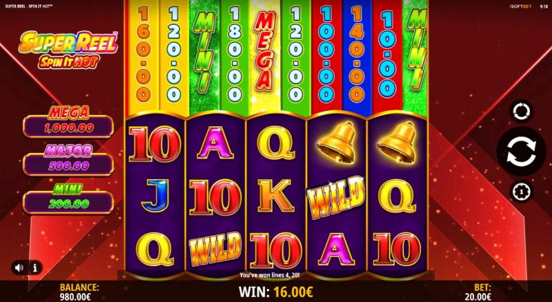 Super Reel Spin It Hot :: A four of a kind win