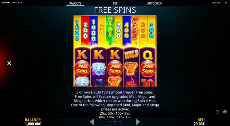 Super Reel Spin It Hot :: Free Spin Feature Rules