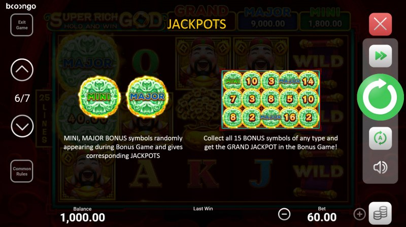 Super Rich God Hold and Win :: Jackpot Rules
