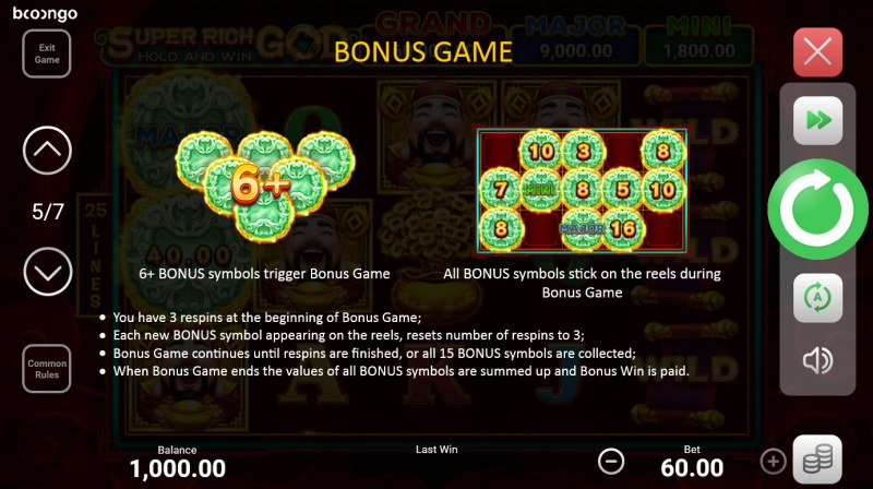 Super Rich God Hold and Win :: Bonus Feature