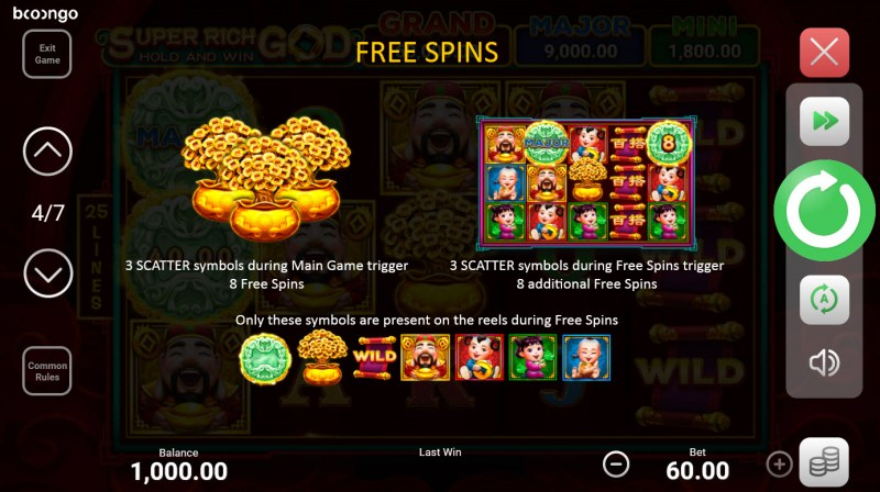Super Rich God Hold and Win :: Free Spin Feature Rules