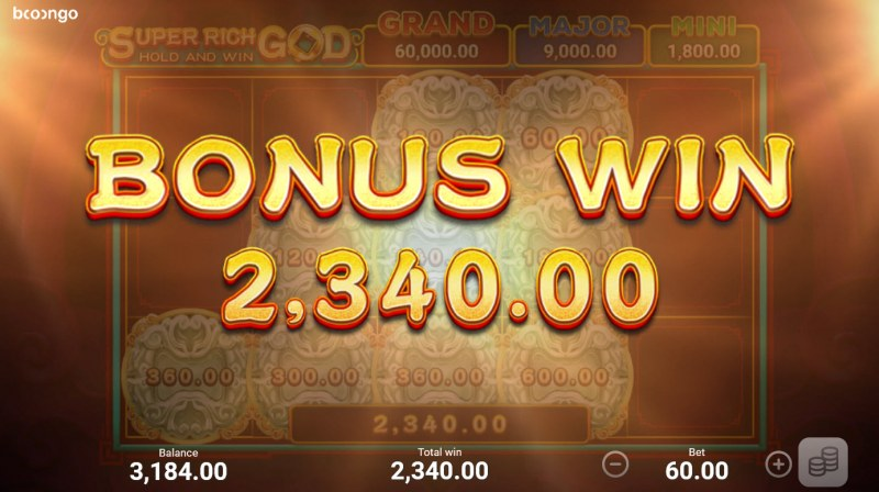 Super Rich God Hold and Win :: Total Feature Payout