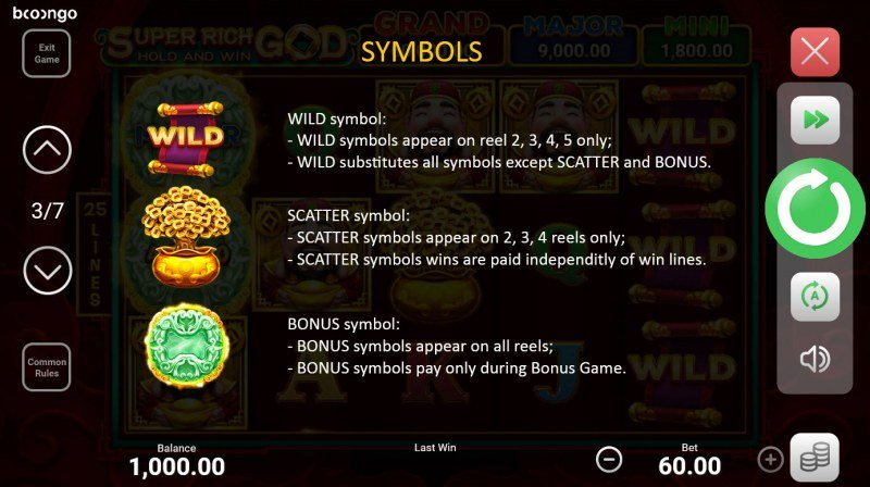 Super Rich God Hold and Win :: Wild and Scatter Rules