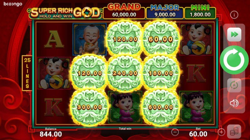 Super Rich God Hold and Win :: Scatter symbol triggers the bonus feature