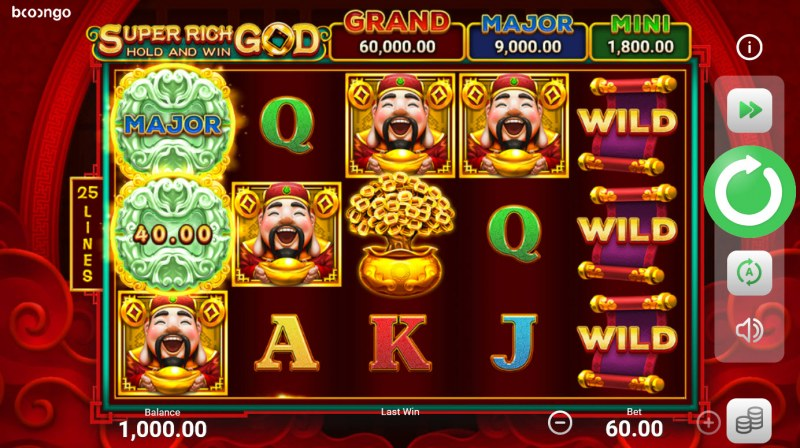 Super Rich God Hold and Win :: Main Game Board