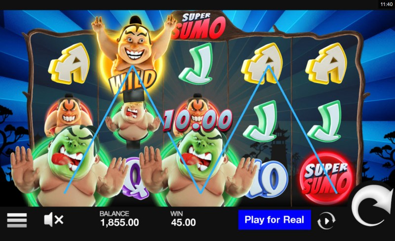 Super Sumo :: Multiple winning paylines