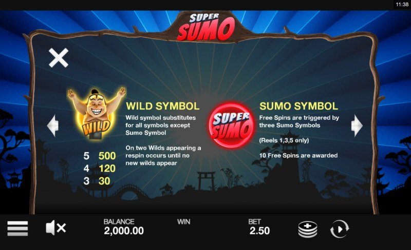 Super Sumo :: Wild and Scatter Rules