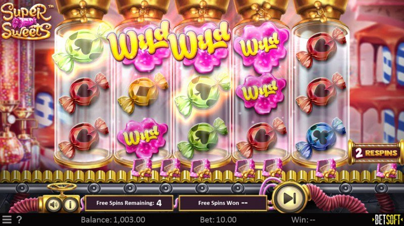 Super Sweets :: Free Spins Game Board