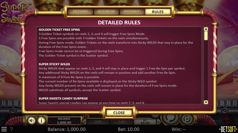 Super Sweets :: General Game Rules