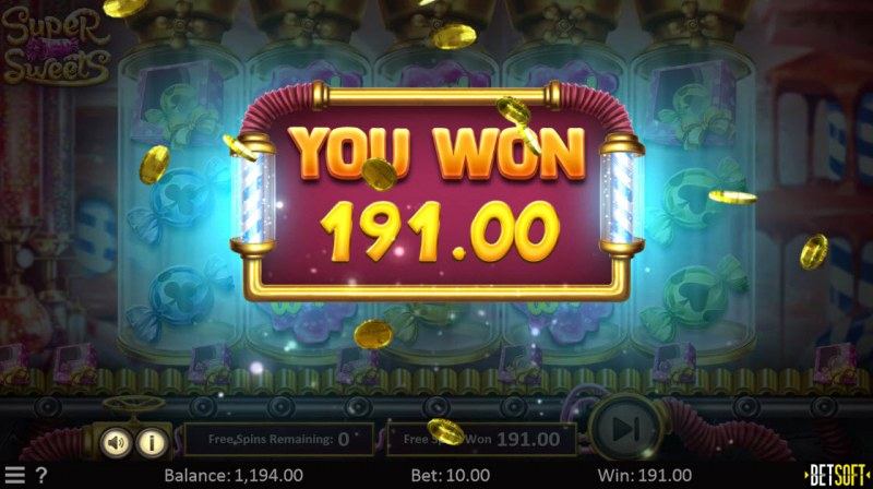Super Sweets :: Total free spins payout