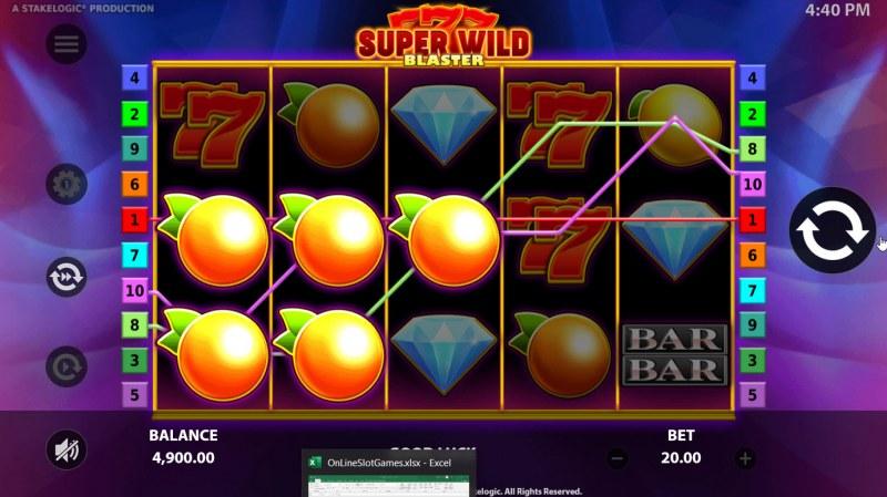 Super Wild Blaster :: Multiple winning paylines