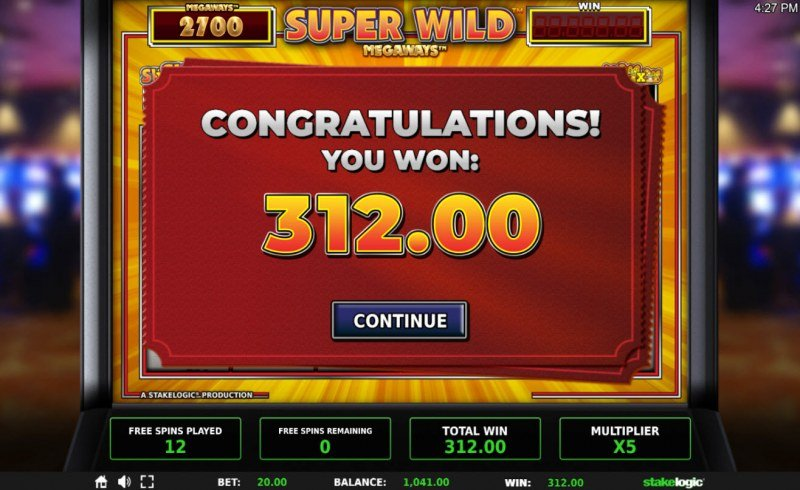Super Wild Megaways :: Total free spins payout