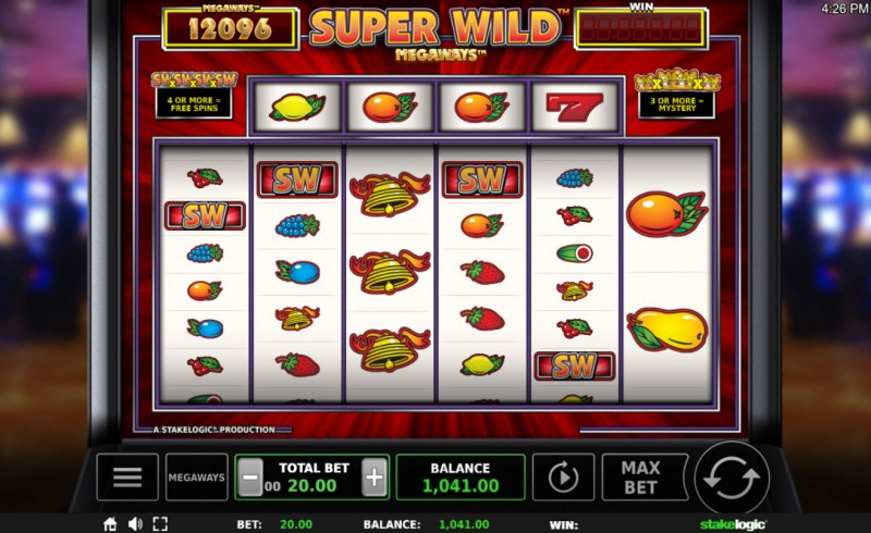 Super Wild Megaways :: Scatter symbols triggers the free spins feature