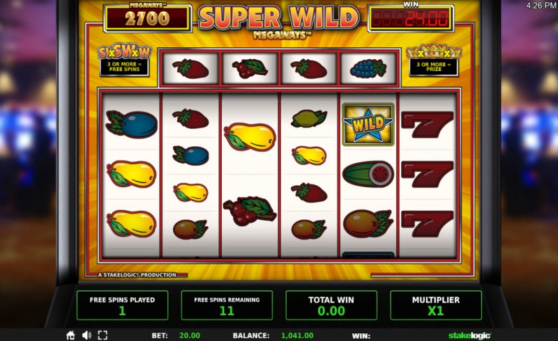 Super Wild Megaways :: Free Spins Game Board