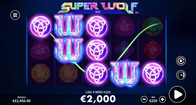 Super Wolf :: A five of a kind win