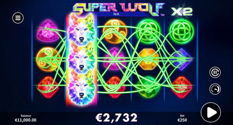 Super Wolf :: Multiple winning combinations lead to a big win