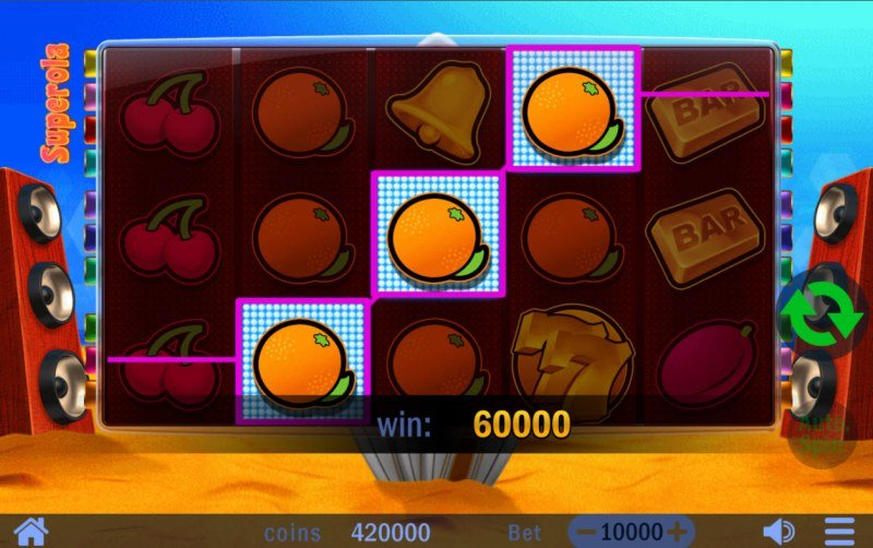 Superola :: Game pays on any winning combination