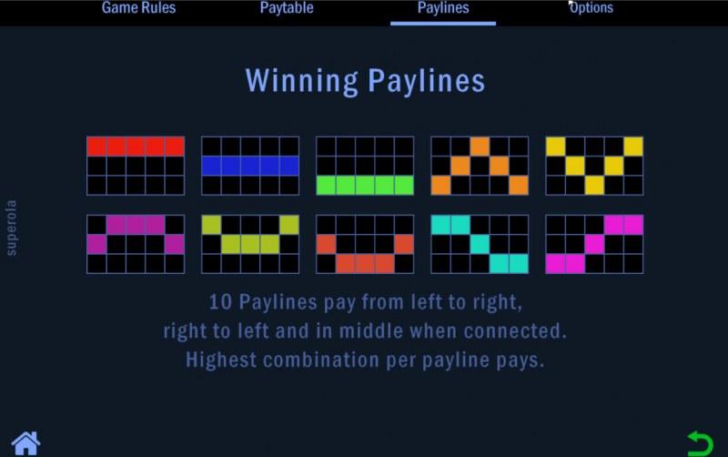 Superola :: Paylines 1-10