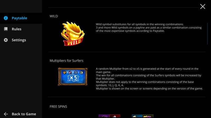 Surf Zone :: Wild Symbol Rules