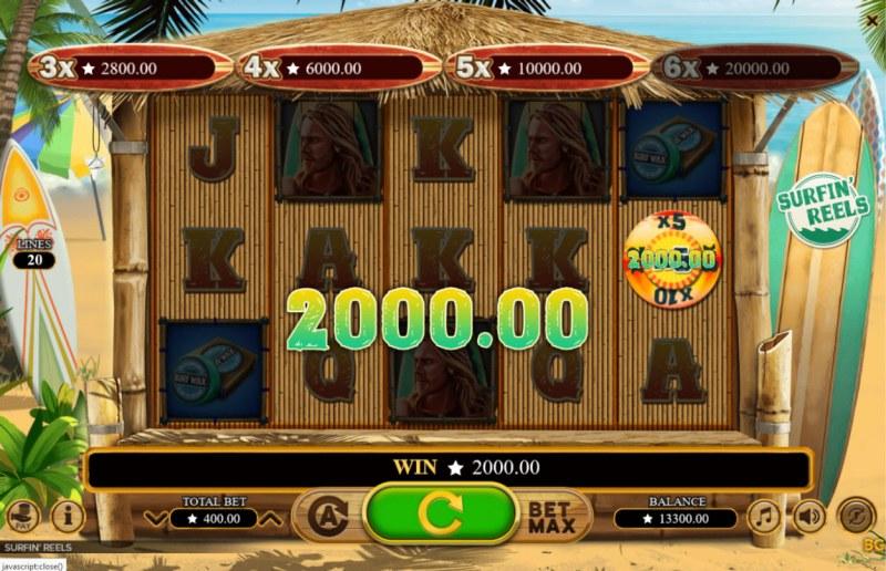 Surfin' Reels :: Wheel of Fortune Win