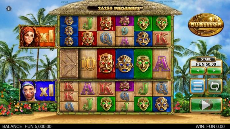 Survivor Megaways :: Main Game Board