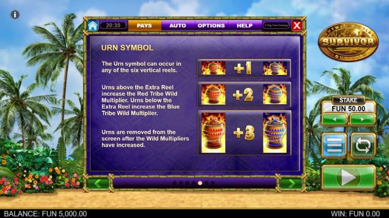 Survivor Megaways :: Urn Symbol