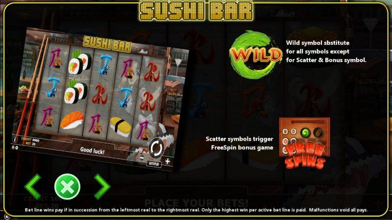 Sushi Bar :: Wild and Scatter Rules