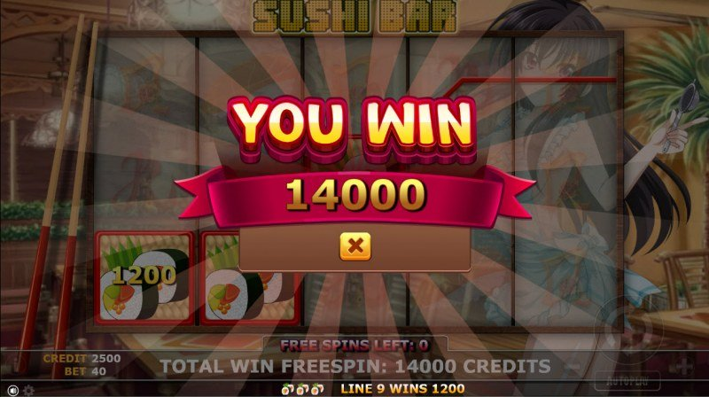 Sushi Bar :: Total free spins payout