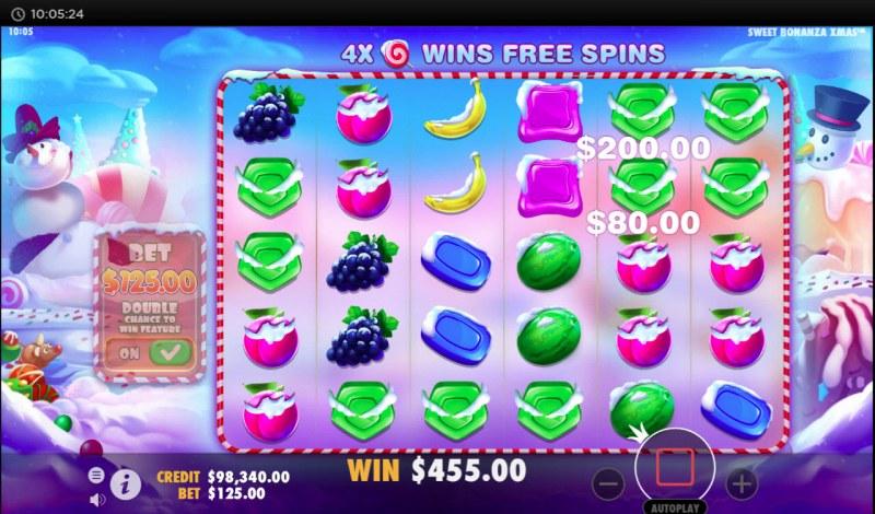 Sweet Bonanza Xmas :: Multiple winning combinations