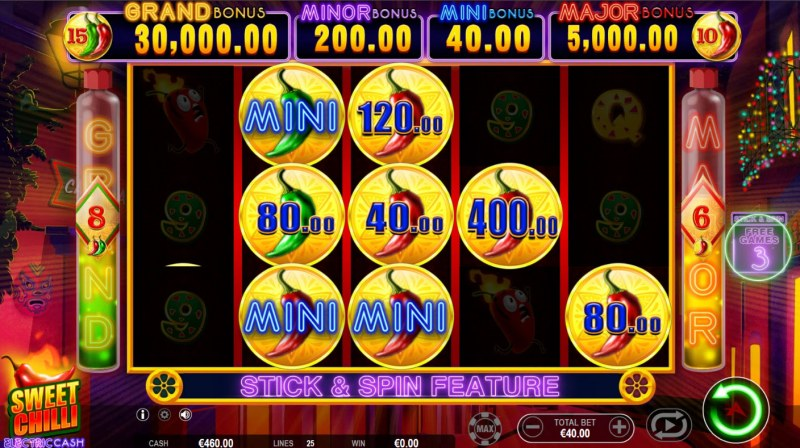 Sweet Chilli Electric Cash :: Collect money symbols to win big
