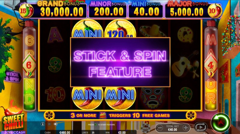 Sweet Chilli Electric Cash :: Stick and Feature triggered