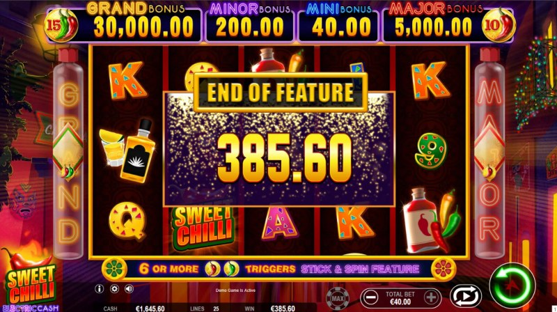 Sweet Chilli Electric Cash :: Total Free Spins Payout