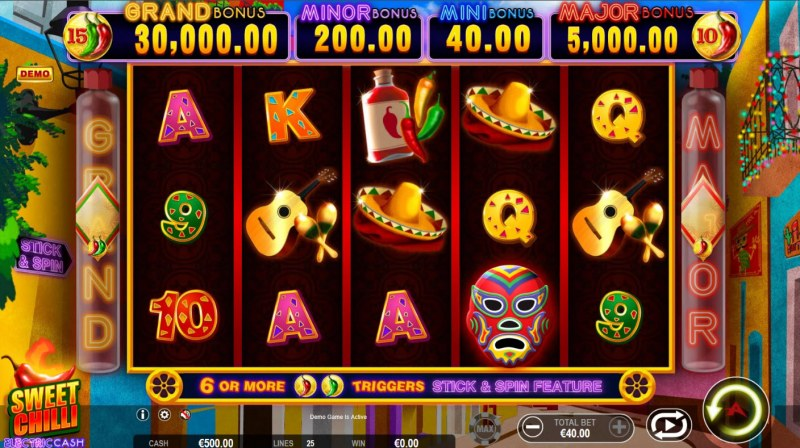 Sweet Chilli Electric Cash :: Main Game Board