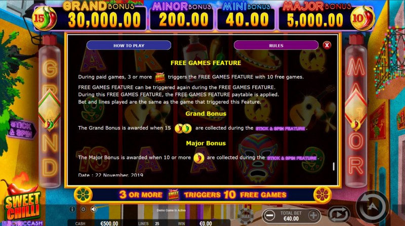 Sweet Chilli Electric Cash :: Free Game Rules