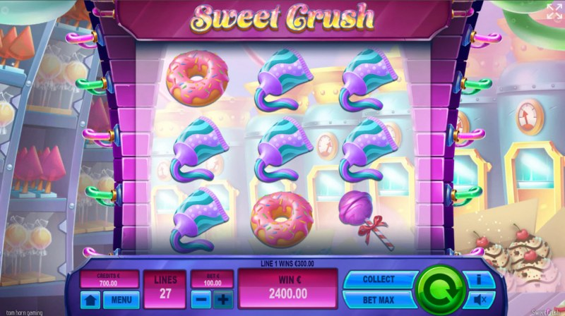 Sweet Crush :: Multiple winning combinations lead to a big win