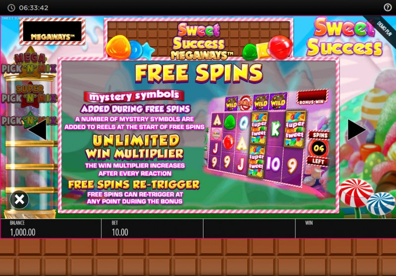 Sweet Success Megaways :: Free Spin Feature Rules
