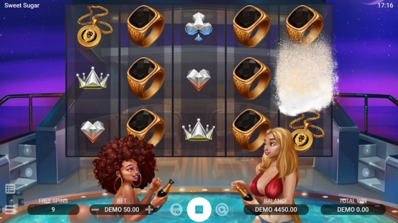 Sweet Sugar :: Stacked symbols randomly added to reels during losing free spins