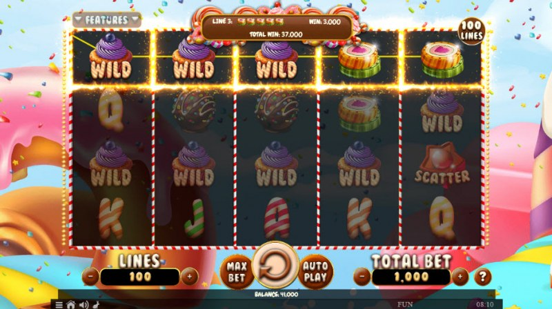 Sweet Win :: Multiple winning combinations leads to a big win