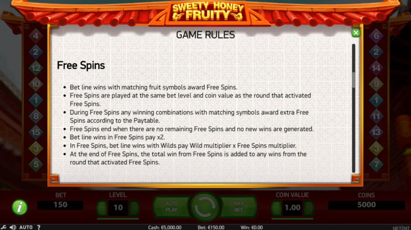 Sweety Honey Fruity :: Feature Rules