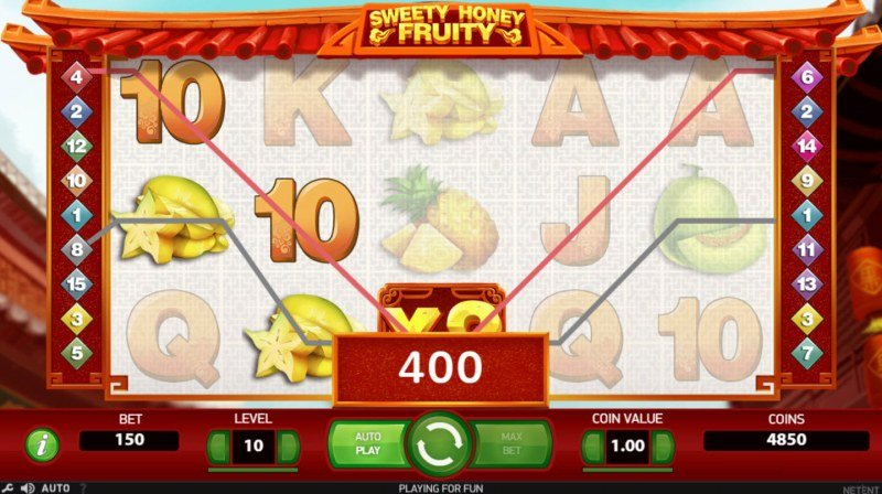 Sweety Honey Fruity :: A pair of winning paylines
