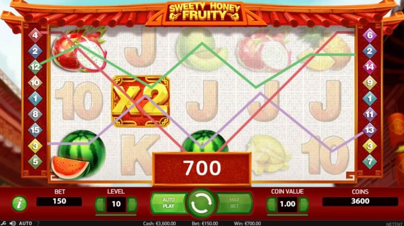Sweety Honey Fruity :: Multiple winning paylines