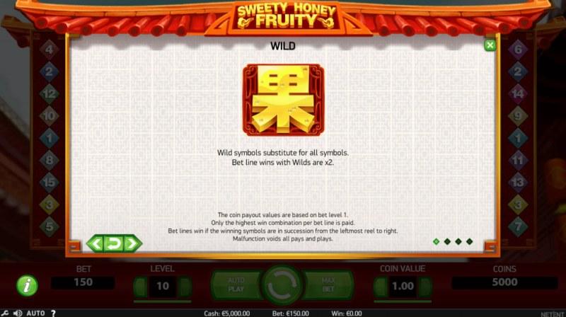 Sweety Honey Fruity :: Wild Symbols Rules