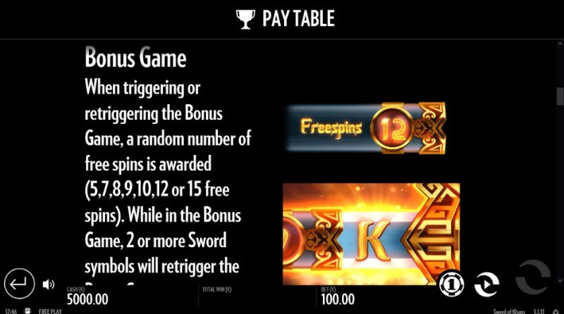 Sword of Khans :: Free Spins Rules