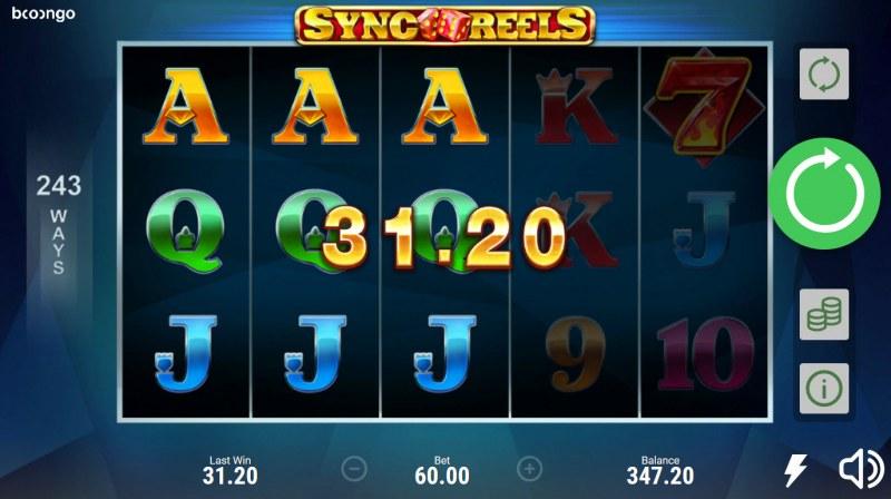 Sync Reels :: A three of a kind win
