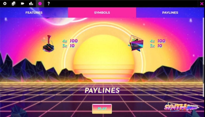 Synthway :: Paytable - Low Value Symbols