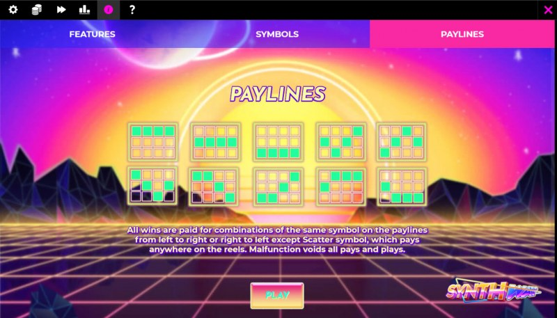Synthway :: Paylines 1-10