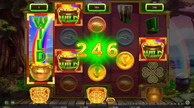 Oshi featuring the Video Slots Stacks O' Gold with a maximum payout of $6,800