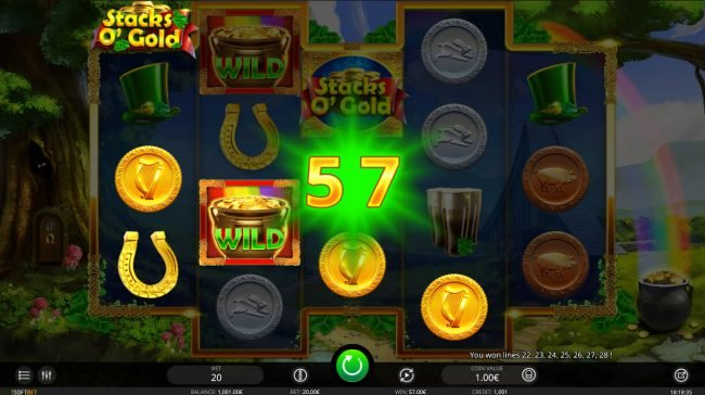 7 Gods Casino featuring the Video Slots Stacks O' Gold with a maximum payout of $6,800