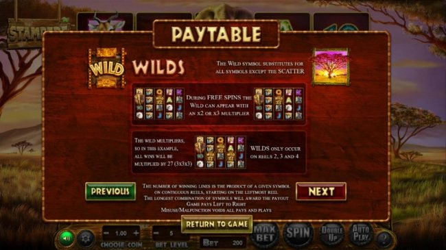 Black Diamond featuring the Video Slots Stampede with a maximum payout of $769,500