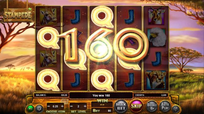 Riviera Play featuring the Video Slots Stampede with a maximum payout of $769,500